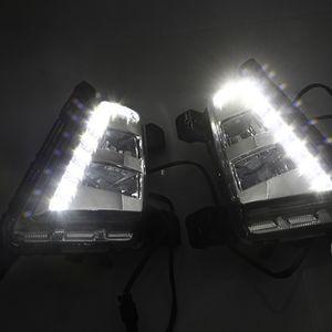 2014 2015 2016 Hyundai ix25 Creta için 1 Çifti Sürüş DRL Gündüz Farı sis lambası Röle 12V LED Gün Işığı araba tasarım