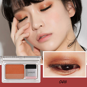Fashion 2 Color Lazy Eye Shadow Palette Rainbow Shimmer Makeup Beauty Shadow Waterproof Cosmetic Maquiagem L58