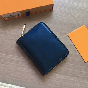 diseñador de lujo marca mujeres carteras Flores Charol Letras Wristlet Mujeres Monedero diseñador billetera titular de la tarjeta bolsas de diseño