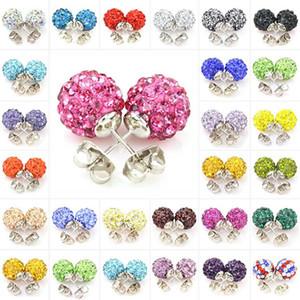 Boucles d'oreilles pour les femmes bijoux de mode coréenne Cristal Swarovski cuivre Dangle Channel Earring Wedding pas cher Silver Stud