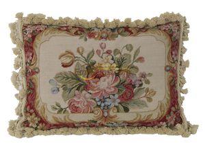 sofá del encaje de aguja colchón de lujo retro muebles del patio de Aubusson Sofá Cover francés del país