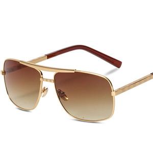 дизайнер солнцезащитные очки мужчины европа и соединенные штаты новая личность лобовое стекло ретро цветная пленка светоотражающие прохладно прозрачные очки