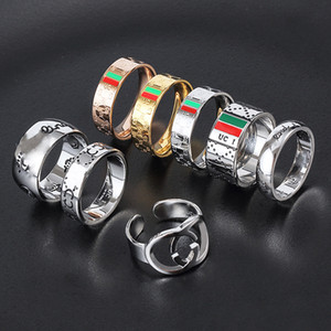New Fashion Love Ring Jewellery 316L Titanium Steel Silver Rose Gold Couple Ring Men And Women Finger Jewelry Gift Fashion Accessories