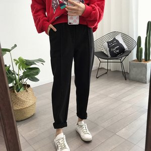 Winter Thicken Women Pencil Pants Plus Size Wool Pants Female 2019 Autumn High Waist Loose Trousers Capris Good Fabric