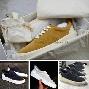 6Italien Luxus mercerisiertem Leder mit Box Verpackung Luxus gut Fear Of God 101 Low Top Sneaker Old Skool Designer Männer Frauen Schuhe