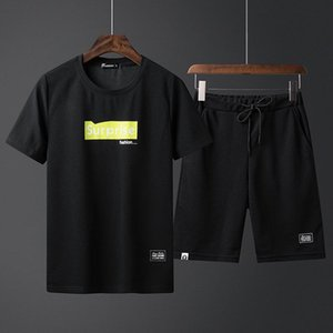 2020NEW роскошь Лета Мужских футболки Letters высокого качество печатный короткий рукав Люди прохладно печати спортивных костюмов