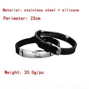 F Black Lives Matter I Can &#039 ;T Breathe Bracelet Silicone Black Stainless Steel Breathe Opp Bag Fighting