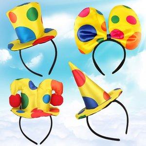 Cute Novelty Clown Hat Headband For Kids Adults Circus Clown Headwear Dance Party Cosplay Costume Dress Up Props Halloween
