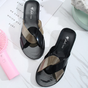Girl's Jelly Shoes Home Casual Slippers Simple Summer Vacation Belt Sandals Women's Crystal Shoes Sandals Outdoor Slippers