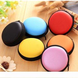 Ein Mix Farben Kopfhörer-Halter Tragen harter Beutel-Kasten-Kasten für Kopfhörer Zubehör Earbuds Speicherkarte USB-Kabel