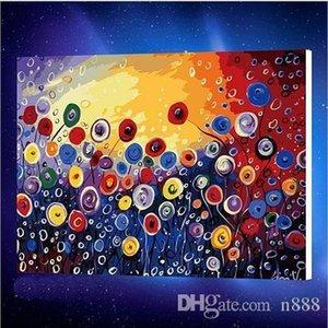 Dipinto a mano HD Stampa olio di arte astratta di paesaggio pittura kit di fiori in piena fioritura la decorazione domestica su tela di canapa Wwall Art l228 200311