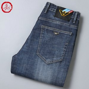 991 V7R7 AJ-Jeans summerSpring Açık Pantolon İnce Stretch kot pamuk pantolon pantolon düz iş olağan biçimde yıkanmış Erkek pantolonu pant