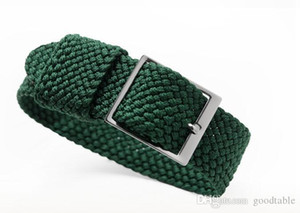 Dokuma naylon kayış yumuşak beren watch band rolex su hayalet divos için uygun izle zinciri 20mm