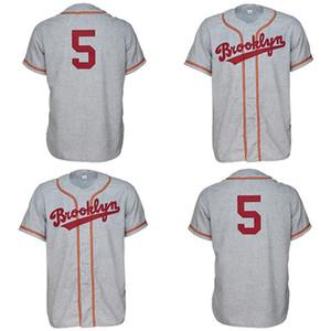 كلية بروكلين 1956 الطريق جيرسي القميص مخصص الرجال النساء الشباب البيسبول الفانيلة أي اسم ورقم مزدوجة مخيط