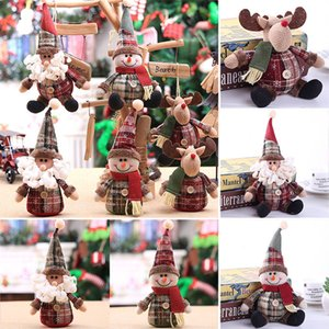 2020 enfeites de natal Cartoon Doll 28 * Árvore de Natal 13cmSnowflake manta boneca Ornaments Holiday Gift Xmas Decoração DHL WX9-1670