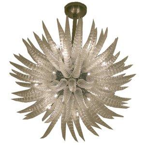 Modern teto LED Light Crystal Lustres Iluminação Limpar Bola Globe luminária para Sala de Jantar Quarto Sala aparelho de iluminação