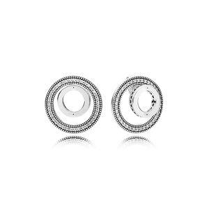 Autentica orecchino d'argento Stering 925 scatola originale per Pandora Circle Orecchini Donne Orecchini di diamanti CZ imposta regalo di San Valentino