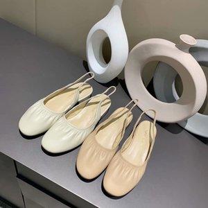 Brand Design Women Genuine Leather Dress Wedding sandals,summer Fashion Sheepskin Bag toe Slippers Office Lady Mules Moccasins Pumps,35-40