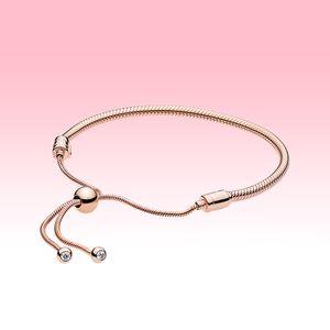 Orijinal kutusu ile Pandora 925 Gümüş Bilezik El Zincirler Kadın Yılan Zinciri Sürgü Bilezikler Düğün Mücevher kaplama Gül altın