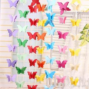 Shop Mall Fenster hängende Verzierung Ziehen Blumen-Papier String Bunte Schmetterlings-Papier-Kind-Raum-Hochzeit Dekorieren Geburtstags-Party 3 5yjC1