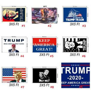 2019 90*150cm Donald John Trump Amercia Flags Polyester Head Metal Grommet Personality Decortive Trump Banner Flag K266