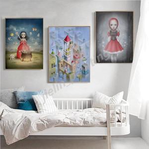 Nicolettas Ceccolies Of The Riddle Princess Portrait Artwork Wall Art Canvas Painting HD Prints Decorative Home Decor