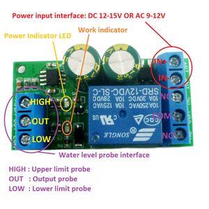 1 PCS 12V nível de água controlador automático de líquido Sensor Switch Válvula solenóide Bomba Motor controle automático Relé Board
