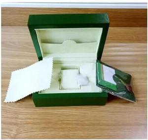 2020 Lüks Koyu Yeşil İzle Kutusu Hediye Kutusu İçin Rolex Saatler Kitapçık Kart Etiketler Ve Kağıtlar yılında İngiliz İsviçre Saatleri Kutular