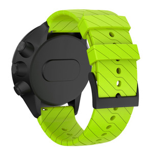 Исцеляющим силиконовые часы, совместимые ремешок для Suunto 9/9 Баро Медный спортивные браслеты спортивный браслет часы браслет