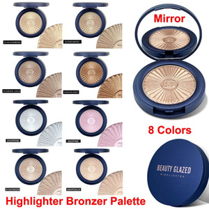 Beauty Glazed Bronzer Highlighter Powder Palette Contour Glow Eyeshadow Blusher Makeup Face Shimmer Skin Brighten Illuminator 8 Colors Hot