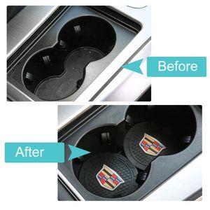 Accessori auto interni antiscivolo stuoia della tazza per la Cadillac Escalade, CTS, SRX, BLS, ATS, STS, XTS, SXT