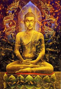 Açık Tuval Wall Art Canvas Resimler 200.220 Boyama Gautama Buddha Ev Dekorasyonu Handpainted HD Baskı Yağ