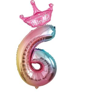 32 pouces ballons nombre d'anniversaire enfants ballons jouets mariage mode Décor Top qualité Ballons Drop Shipping