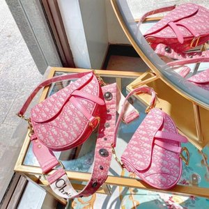 vente en gros designeres rose sac de selle sac à main de mode femme de haute qualité Messenger sac à bandoulière prix pas cher de portefeuille d'embrayage avec la boîte