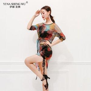 New Eastern Oriental Floral Bauchtanz-Kostüm-Set geerntete Top Rock für Frauen Bauchtanz Kleidung Bauchtanz Anzug New