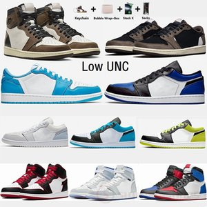 Nike Air Jordan 1 Retro 1s alta Travis scotts Shoes Low escuro Mocha 1 Mens Basketball Zoom Racer UNC sombra azul Obsidian Moda Sports Sneakers Trainers