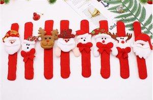 Cadeaux de Noël Slap Bracelets Bracelet Enfants enfants Père Noël slap pat cercle cercle Bracelets décorations de Noël Cercle