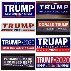 10pcs Lot Donald Trump Car Sticker for President 2020 Bumper Make America Great Again Car Stickers Accessories Car Styling Decal Decor B5601
