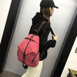 Женская Рюкзак Vintage Холст Путешествия Рюкзак Schoolbag отдыха Bucket Bag