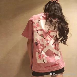 2019 T-shirt à manches courtes pour femmes Imprimé rose à manches courtes pour femmes Designer T-shirts pour femmes