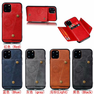 Luxe Porte-monnaie PU Housse cuir voiture support magnétique Téléphone pour iPhone 11 Pro Max XS X XR 7 8 6 6s Plus Card Holder Slot Cover