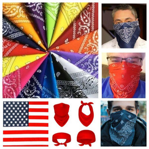 Bicycle Paisley Face Head Camo Wrap Gaiter Headscarf Cotton BANDANA Riding Army Mask Multifunctional Cover Neck Scarf FY7042 Xmulj