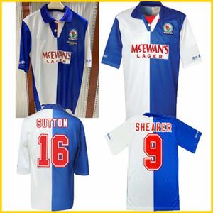 1994 1995 Blackburn Rovers retro soccer jersey 94 95 Blackburn Alan Shearer Sutton Hendry SHERWOOD Berg vintage classic Camicia di calcio