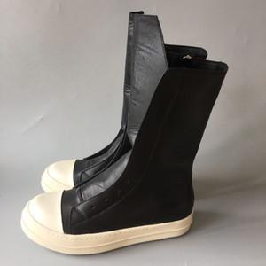 2018ss camada de couro Genuíno dos homens botas até o joelho de alta qualidade moda europa e américa nova lista real imagem coxa-alta sapatos