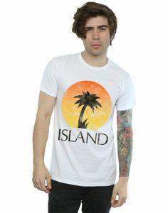 Island Records Men'S Distressed Logo T-Shirt Printing Apparel? Tee Shirt