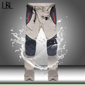 Pantalones impermeables tácticos cargo de los hombres del verano del resorte de secado rápido pantalones de los hombres al aire libre Deportes Trekking pesca que acampa Pantalones 4XL