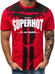 Camouflage fitness Designer Mens magliette stampate Breve Sport manica Adolescente parti superiori di estate o collo Mens Tees