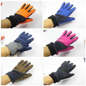 Volle Finger-Handschuh-Fahrrad Radfahren Wandern Sport-Screen-Handschuh Fleece Winddichtes Outdoor-Handschuhe 7 Farben OOA3418