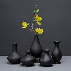 Новые современные керамические вазы творческий черный Столешница Вазоны thydroponic контейнеры цветочный горшок Home Decor ремесел Свадебные украшения