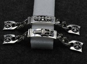 Fashion accessories 925 sterling silver watch chain male retro personality Thai silver strap K4816